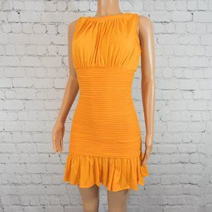 Max Studio orange banded dress